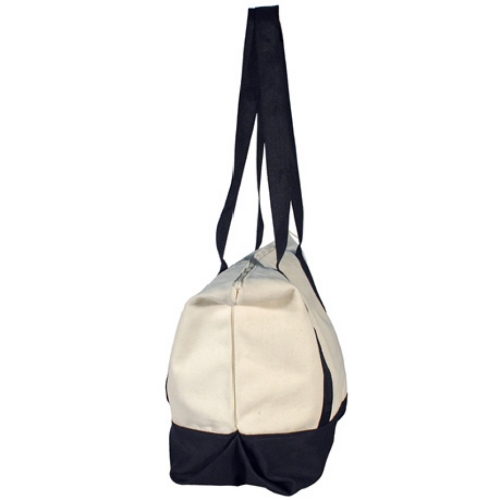 8519sp Zippered Cotton Tote With Inside Pocket Algoma Bags